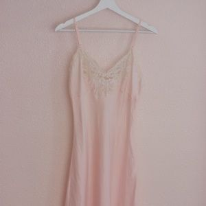 Christian Dior Light Pink Vintage Lace Nightgown